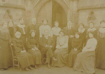 Samuel Whites 1890s - Centre front Mr Widlake Headmaster